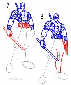 How to Draw Deadpool Step 4