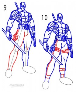 how to draw deadpool mask