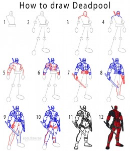 How to Draw Deadpool Step by Step