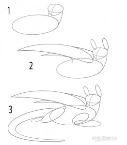How to Draw Toothless Step 1