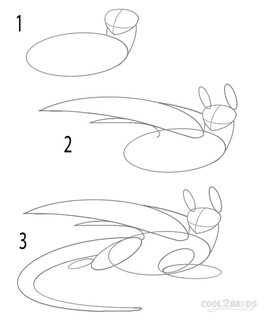 How to Draw Toothless (Step by Step Pictures) | Cool2bKids