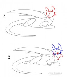 How to Draw Toothless Step 2