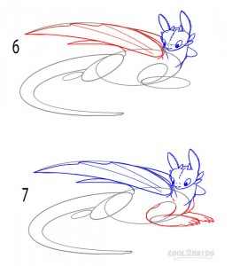 How to Draw Toothless Step 3