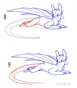 How to Draw Toothless Step 4