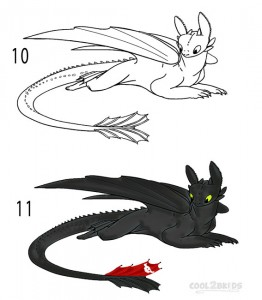 How to Draw Toothless Step 5