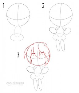 How to Draw a Chibi Step 1