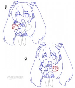 How to Draw a Chibi Step 4