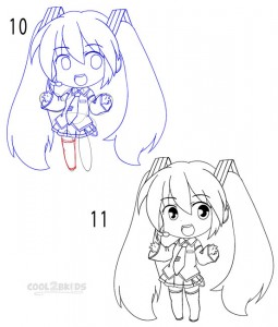 How to Draw a Chibi Step 5