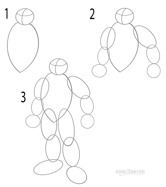 How to draw a ninja turtle step 1