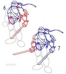 How to Draw a Ninja Turtle Step 3