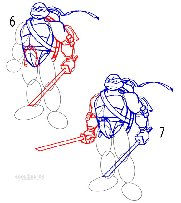 How To Draw Cool Ninjas Step By Step