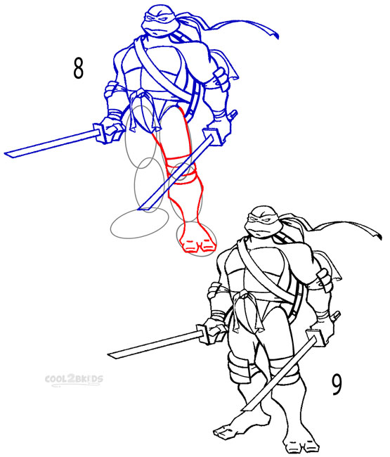 How To Draw A Ninja Turtle (Step By Step Pictures