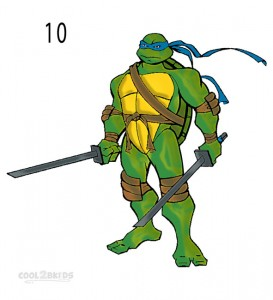 How to Draw a Ninja Turtle Step 5