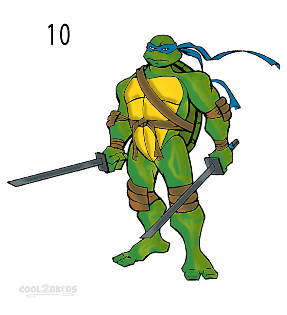 How to Draw a Ninja Turtle (Step by Step Pictures ...