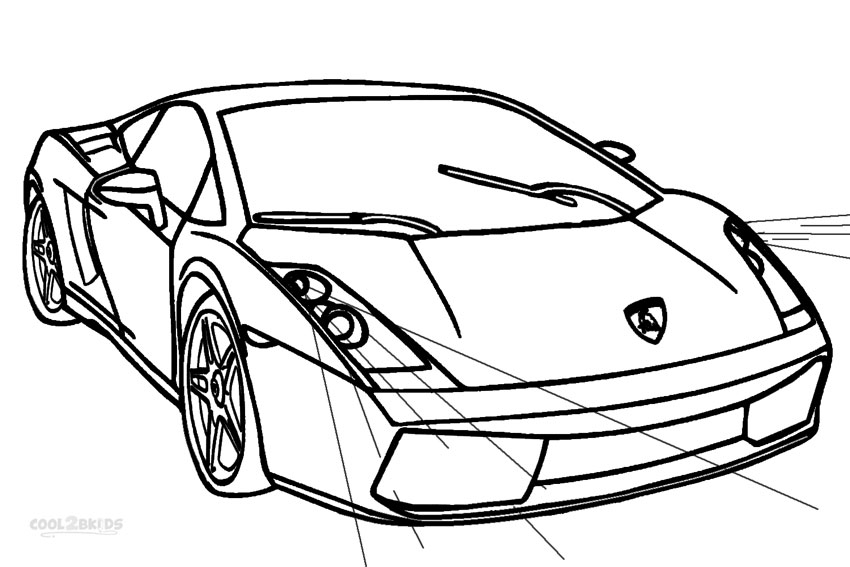 Lamborghini aventador coloring pages