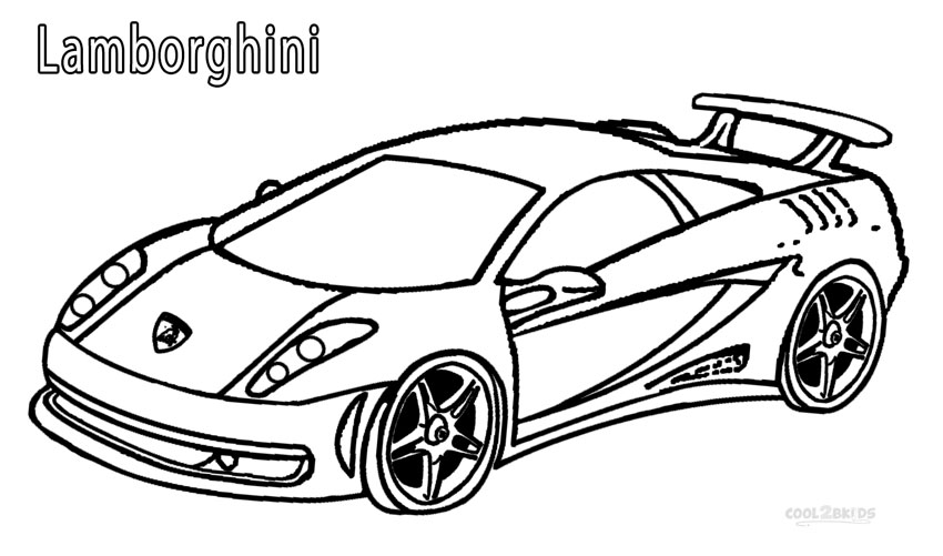 Lamborghini Coloring Pages Printable
