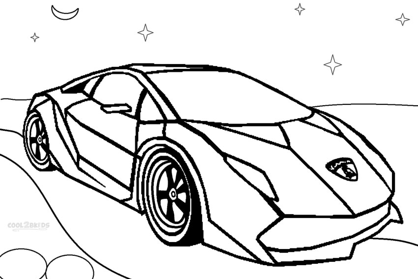 Colouring In Pages Cars