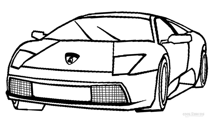 printable lamborghini coloring pages for kids