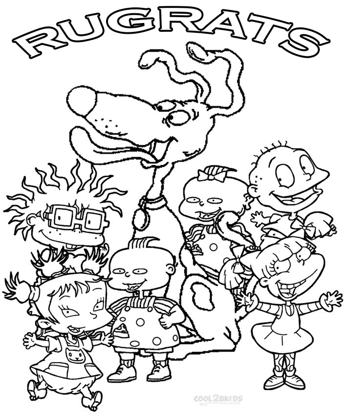 rugrats characters coloring pages - Rugrats Characters Coloring Pages