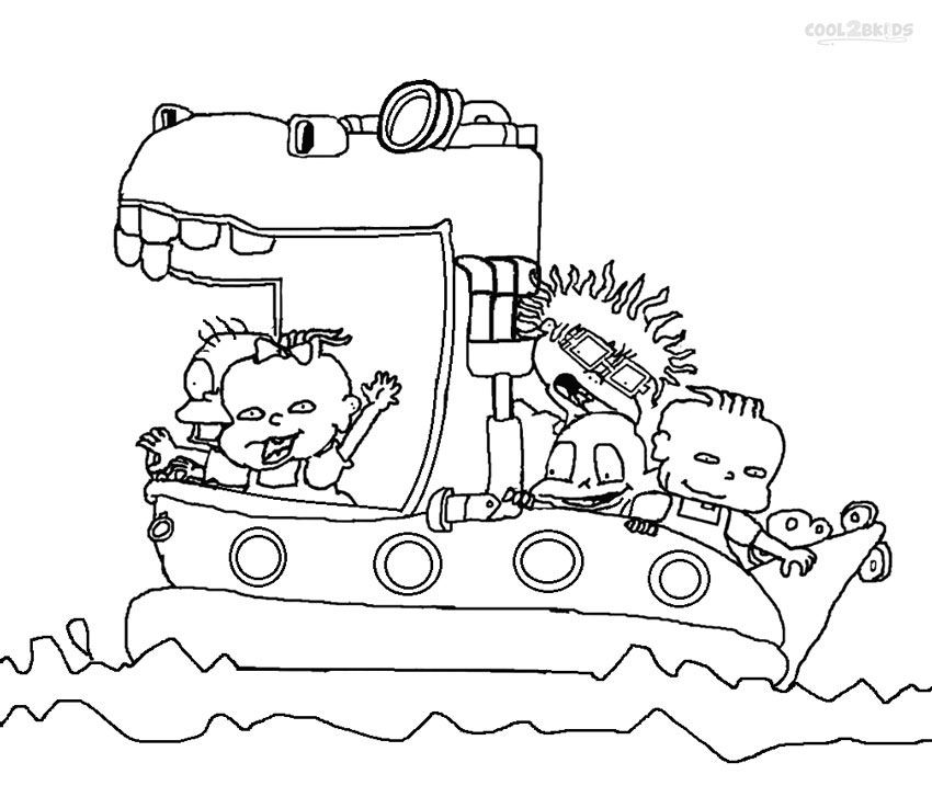 rugrats coloring pages for kids - Rugrats Characters Coloring Pages