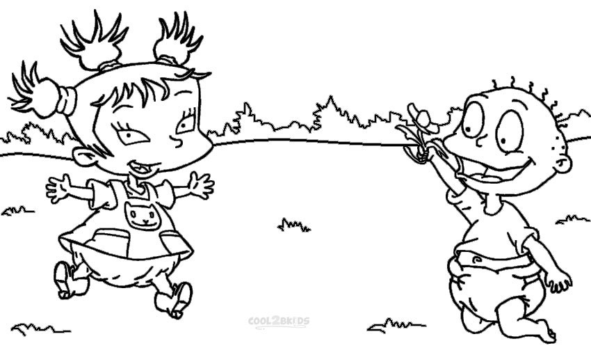 printable rugrats coloring pages for kids cool2bkids