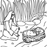 baby moses coloring pages bloomscenter