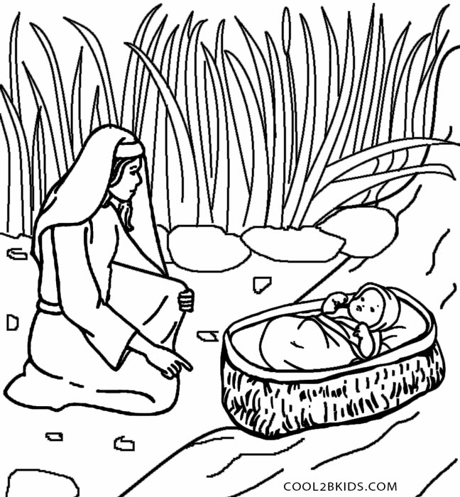 moses coloring pages free - photo#3