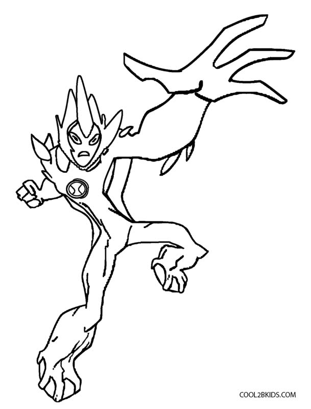 Printable Ben Ten Coloring Pages For Kids Cool2bkids Alien 10 Free