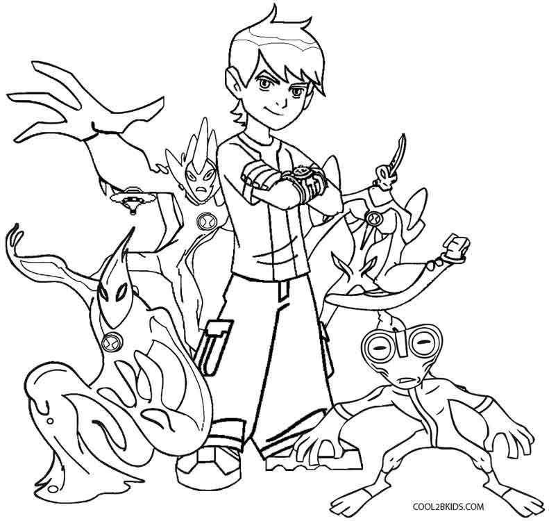 Ben 10 Way Big Coloring Pages | Car Interior Design