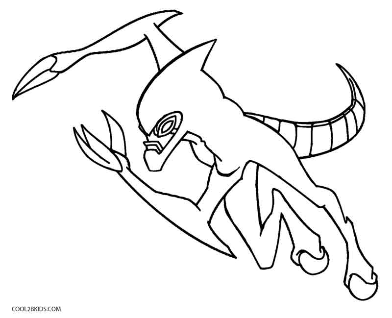 Printable Ben Ten Coloring Pages For Kids