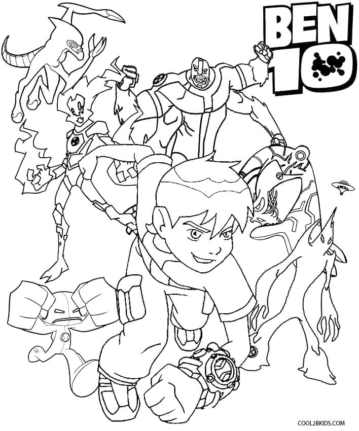 Ben 10 Colouring Pictures Games
