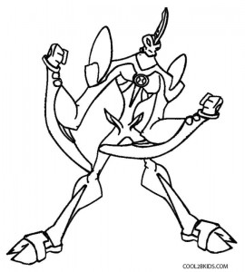 Ben 10 Way Big Coloring Pages
