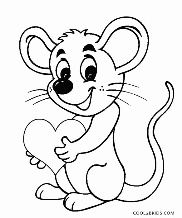 cute mouse coloring page - Coloring Picture Of A Mouse