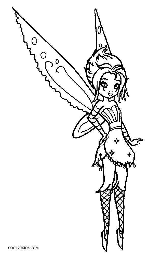 emo tinkerbell coloring pages - photo#6
