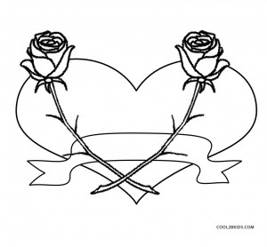 Emo Heart Coloring Pages