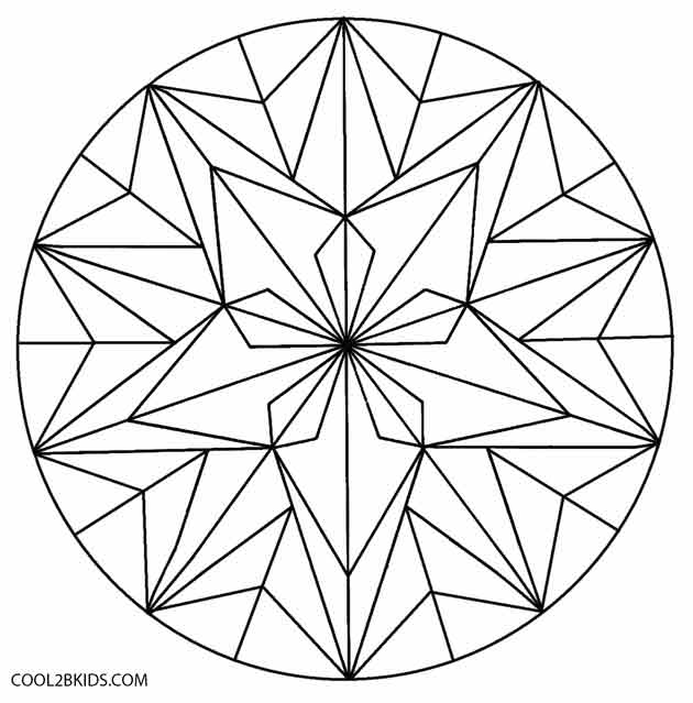 easy geometric design coloring pages - photo#12