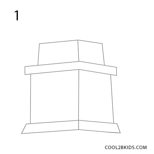 how to draw the statue of liberty step 1