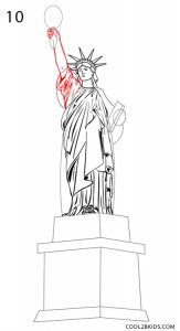 How to Draw the Statue of Liberty Step 10