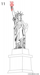 How to Draw the Statue of Liberty Step 11