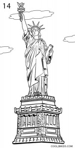 How to Draw the Statue of Liberty Step 14
