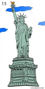 How to Draw the Statue of Liberty Step 15
