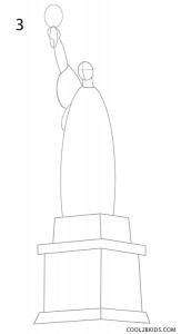 How to Draw the Statue of Liberty Step 3