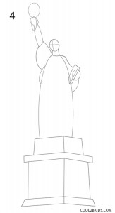 How to Draw the Statue of Liberty Step 4
