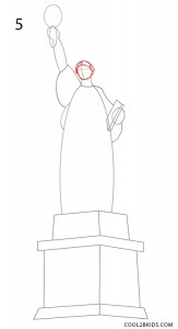 How to Draw the Statue of Liberty Step 5