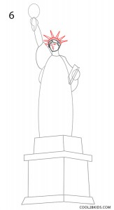 How to Draw the Statue of Liberty Step 6