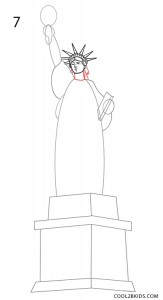 How to Draw the Statue of Liberty Step 7