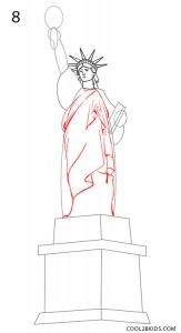 How to Draw the Statue of Liberty Step 8