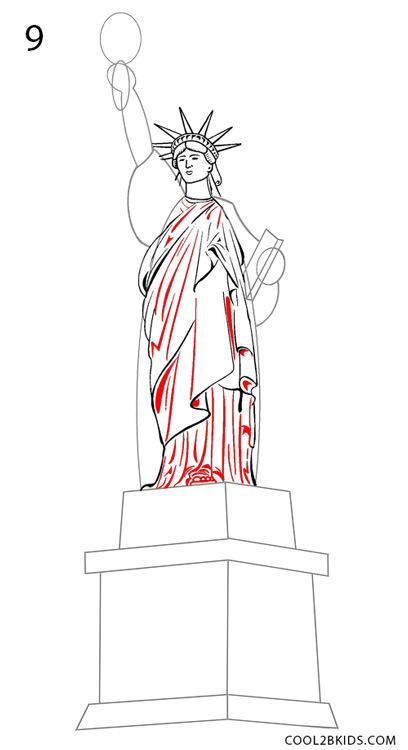 How to Draw the Statue of Liberty (Step by Step Pictures ...