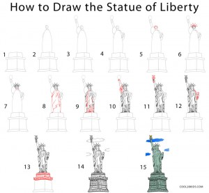 How to Draw the Statue of Liberty Step by Step