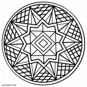 printable kaleidoscope coloring pages for kids cool2bkids
